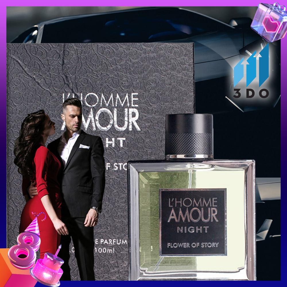 Nước hoa nam cao cấp L HOMME 100ml phân phối chính hãng bởi 3DO, nước hoa quý ông, mùi hương cô đặc thơm lâu đến 8h, quý phái, lịch lãm. nhập khẩu