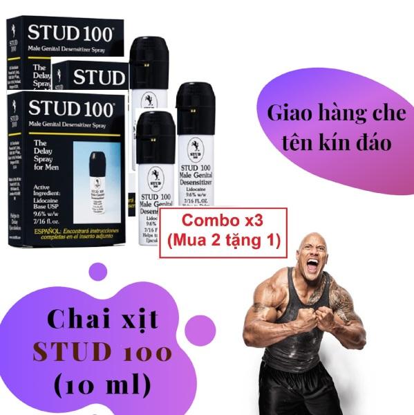Combo x3 (Mua 2 tặng 1) Chai xịt 100 STUD cao cấp (10ml) - hàng chính hãng giá rẻ