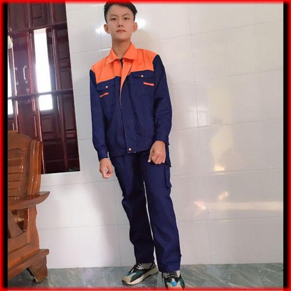Bộ quần áo bảo hộ lao động size L (7) cho cả nam và nữ kaki liên doanh loại dày khóa kéo SHUNI 00457B cân nặng từ 64 - 73 kg phù hợp cho kỹ sư cơ khí, xây dựng, công nghiệp, hóa dầu, sơn, công nhân viên kỹ thuật