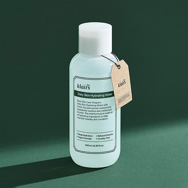 Nước cân bằng dưỡng ẩm, làm dịu da  Klairs Daily Skin Hydrating Water 500ml