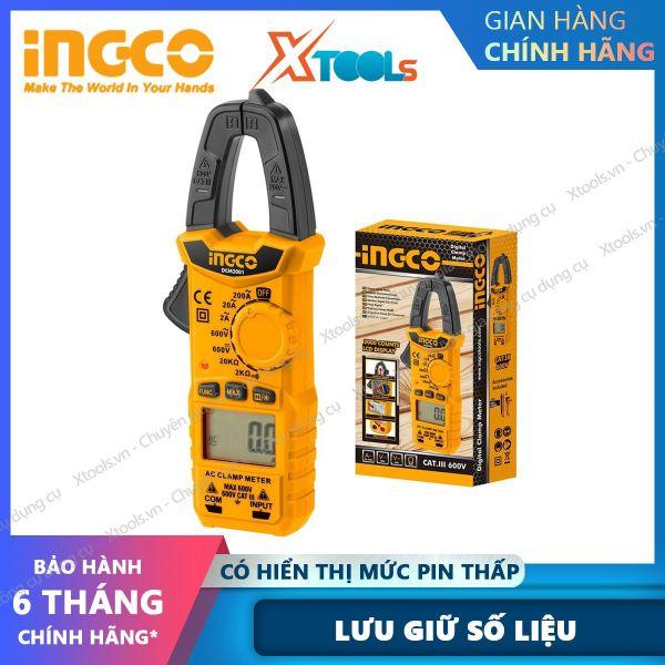 Bảng giá Kềm đo AC kỹ thuật số INGCO DCM2001 Kềm đo 2000 số đếm, Lưu giữ số liệu Có hiện mức pin, tự động tắt nguồn XTOOLs, XSAFE