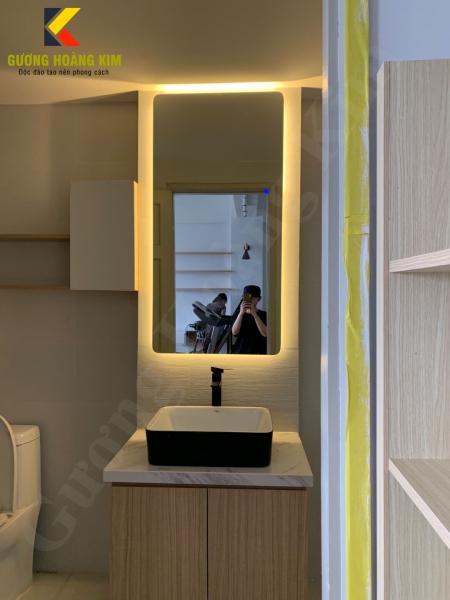 Gương Hoàng Kim - gương led soi toàn thân có cảm ứng 3 chạm hoặc 3 mầu  thông minh kích thước 60x150cm guonghoangkim mirror