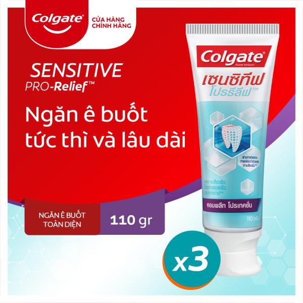Bộ 3 Kem đánh răng Colgate Sensitive ngăn ê buốt và bảo vệ toàn diện 110g/tuýp giá rẻ