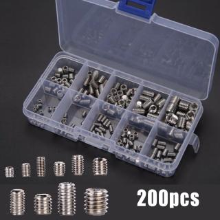 200 Cái Thép Không Gỉ Hex Cờ Lê Ổ Cắm Cap Vít Assortment Kit M3-M8 thumbnail