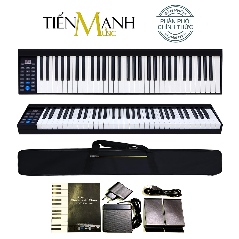 Đàn Piano Điện Konix PH61 - 61 Phím nặng Cảm ứng lực PH-61 - Hãng phân phối chính thức - Midi Keyboard Controllers (Kết nối máy tính và điện thoại, Bluetooth, Pin sạc, Loa lớn - Phần mềm và Hướng dẫn Tiếng Việt -Tặng bao đựng)