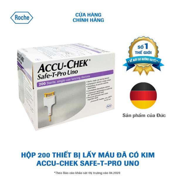 Thiết bị lấy máu đã có kim chuyên dùng cho CSYT Accu-Chek Safe-T-Pro Uno. Hộp 200 Kim bán chạy