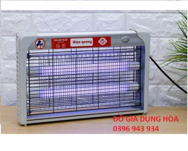 [NGĂN CHẶN CORONA] Đèn bắt muỗi Điện Quang EML06L khung lưới nhôm chắc chắn KT (38*23*5cm)
