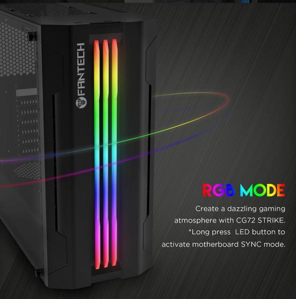 Giá Vỏ cây máy tính, Vỏ case máy tính, Vỏ thùng máy tính Hỗ trợ đèn LED siêu đẹp Fantech - Hãng phân phối chính thức