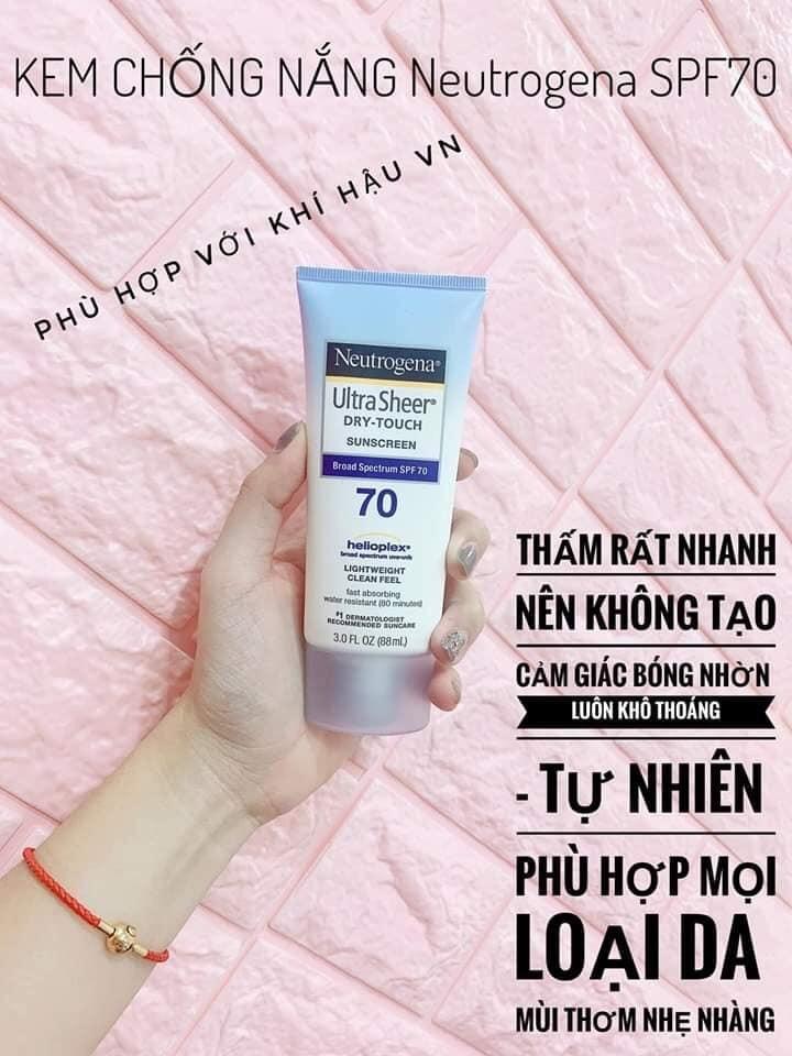 Kem chống nắng Neutrogena SPF 70 cao cấp