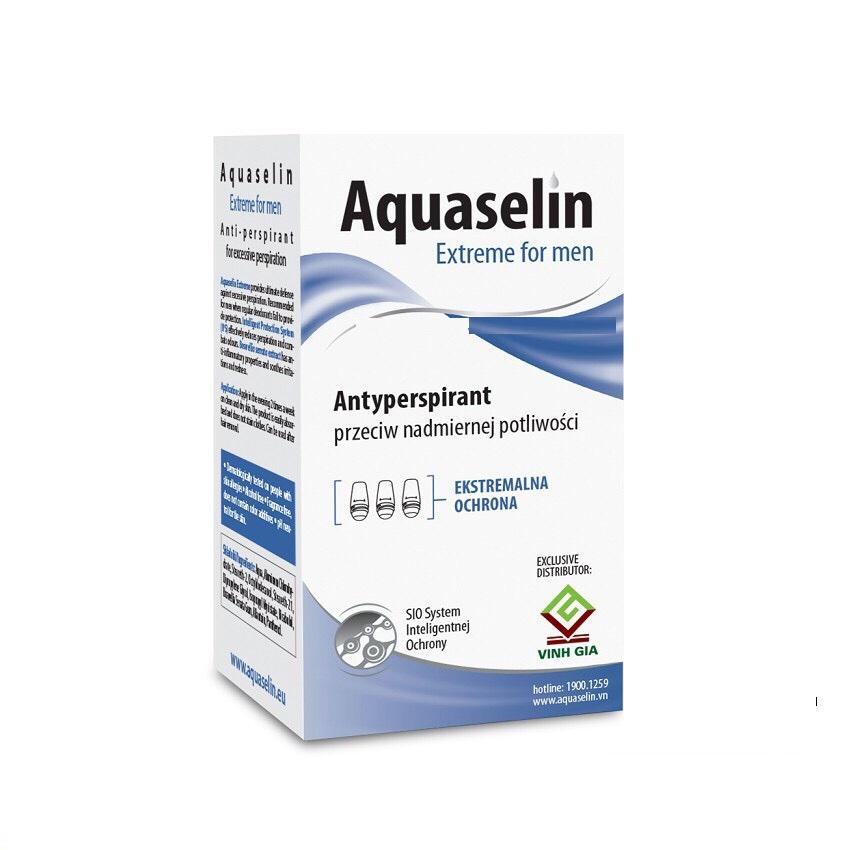 Aquaselin - Lăn nách ngăn tiết mồ hôi và khử mùi dành cho nam 20ml