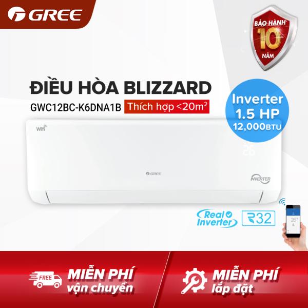 Bảng giá Điều hòa GREE- công nghệ Real Inverter, Wifi - 1.5 HP (12.000 BTU) - BLIZZARD GWC12BC-K6DNA1B (Trắng) - Hàng phân phối chính hãng