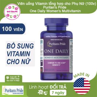 Viên Uống Vitamin tổng hợp cho Phụ Nữ Puritan s Pride One Daily Women s Multivitamin (100 viên) thumbnail