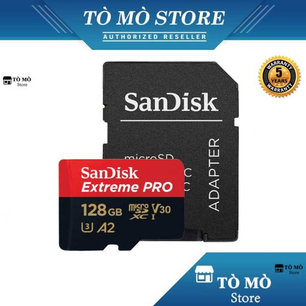 Thẻ Nhớ MicroSDXC SanDisk Extreme Pro V30 A2 128GB 170MB/s - Bảo hành 5 năm