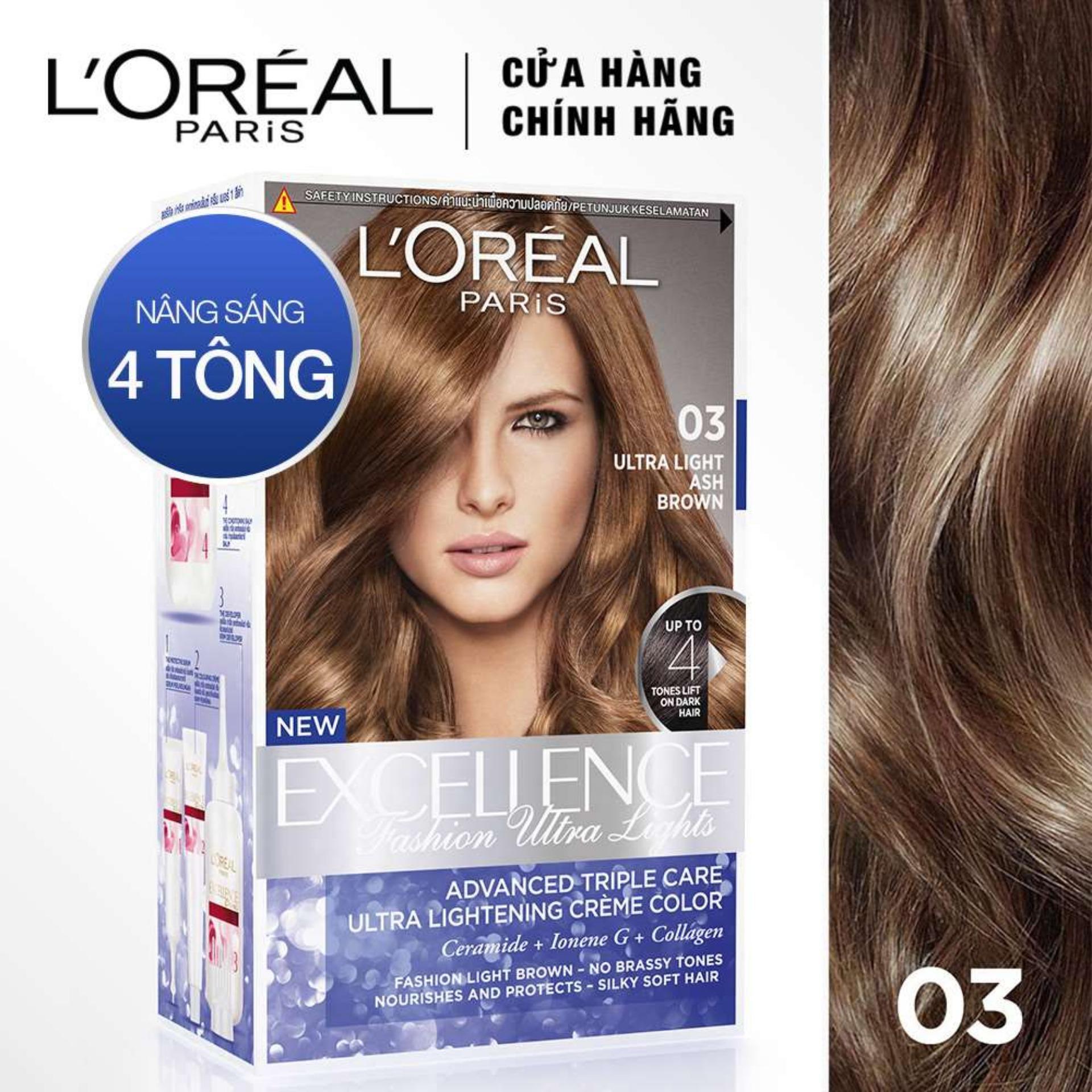 Kem nhuộm tóc nâng sáng LOreal Paris Excellence Fashion Ultra Light 172ml