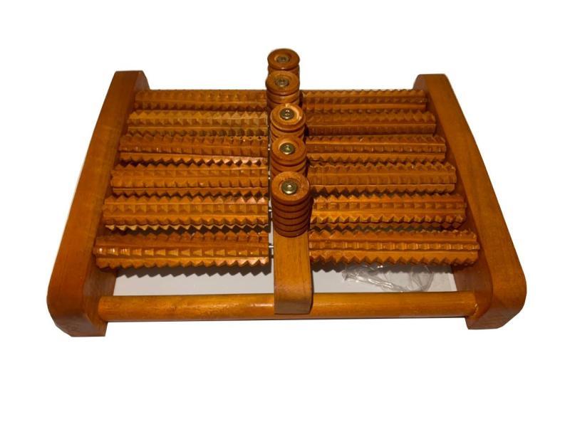 Bàn lăn chân gỗ Massage 6 hàng Y Tế