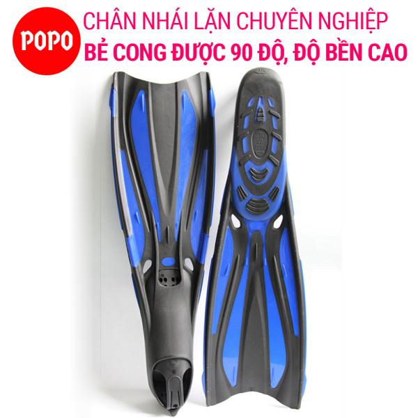 Chân nhái lặn biển chuyên nghiệp POPO 1143 chân vịt lặn biển bẻ cong được 90 độ, đàn hồi cao chất liệu silicone cao cấp POPO Collection