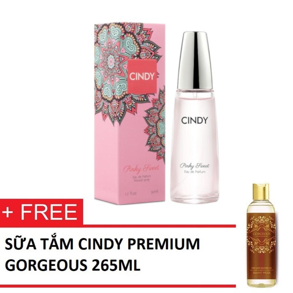 Nước hoa Cindy Pinky Sweet 50ml + TẶNG KÈM Sữa tắm Cindy Premium Gogerous 265ml