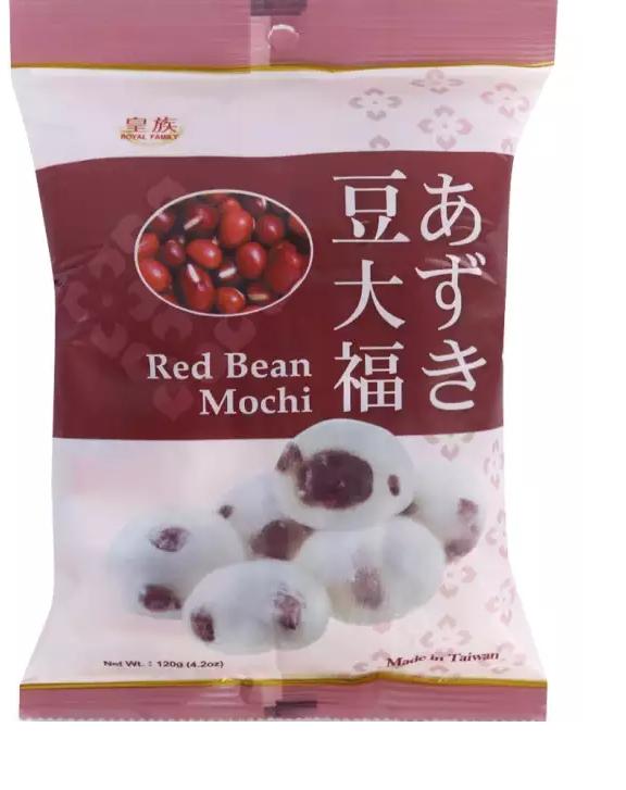 Bánh Đài Loan mochi Đậu Đỏ Royal Family 120g 9 Bánh Mềm Dẻo Nhân Đậu Đỏ Thơm Lừng có video- ăn vặt