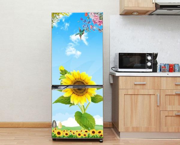 Decal trang trí tủ lạnh mẫu Hoa Mặt Trời số 2