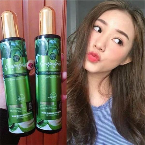 Xịt dưỡng Bưởi Grapefruit kích thích mọc tóc Heat Protector Organics Care 220ml Hàng Chuẩn nhập khẩu