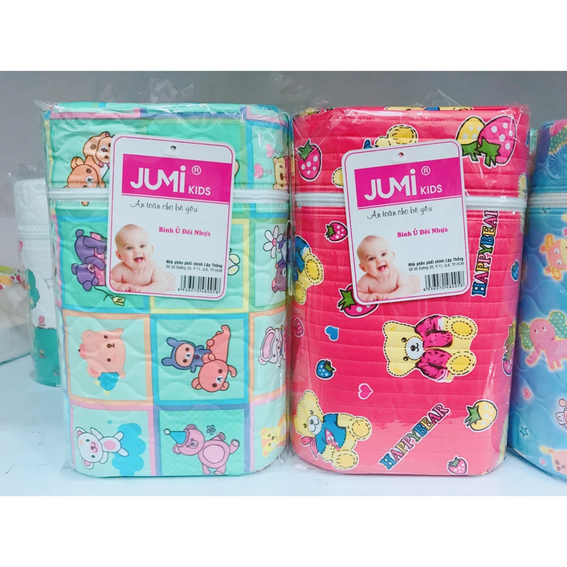 Bình ủ sữa đôi Jumi 3 lớp nhựa cao cấp