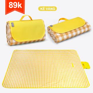 Thảm dã ngoại chống thấm chất liệu vải Oxford dày dặn có thể gấp gọn kích thước 1.5m 1.5m (Vàng) thumbnail