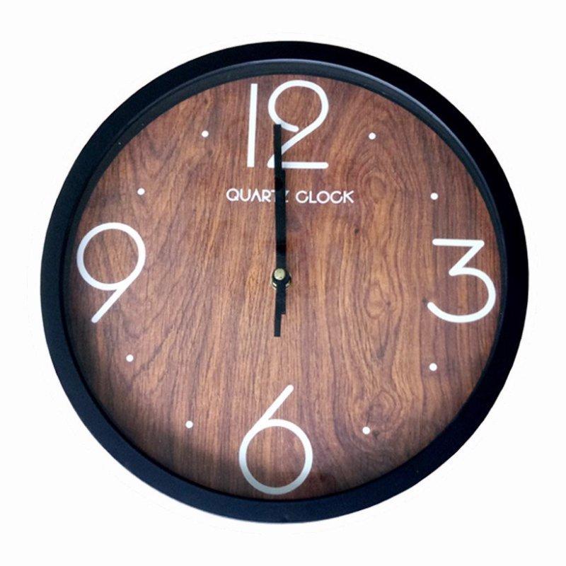 Đồng hồ treo tường Quartz Vân Gỗ