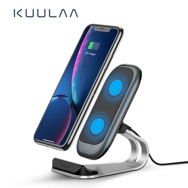 Giá KUULAA Sạc không dây Qi 10W cho iPhone X XS 8 XR Samsung S9 Đế sạc không dây nhanh Xiaomi Đế điện thoại Qi Wireless Charger 10W for iPhone X XS 8 XR Samsung S9 Xiaomi Fast Wireless Charging Dock Station Phone Holder