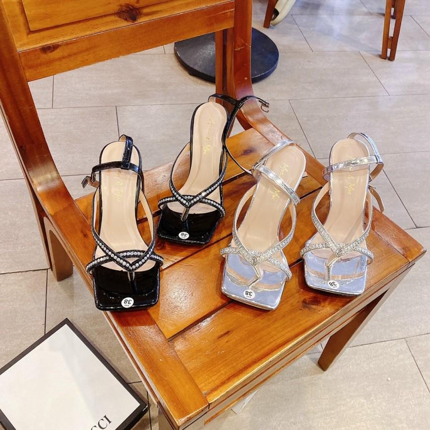Giày sandal cao gót nữ gót ly ( MIỄN PHÍ SHIP ) Hàng NHẬP KHẨU  ( ẢNH TỰ CHỤP ) trực tiếp xưởng sản xuât và phân phối, dáng thời trang trẻ 2021 giá rẻ