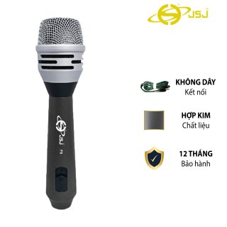 Micro karaoke có dây JSJ F8 vẻ ngoài quý phái thanh lịch thiết kế hợp kim nhôm cao cấp chống mài mòn kết cấu chắc chắn lưới lọc mật độ cao chống nhiễu bên ngoài chất lượng âm thanh sống động tuyệt vời thumbnail
