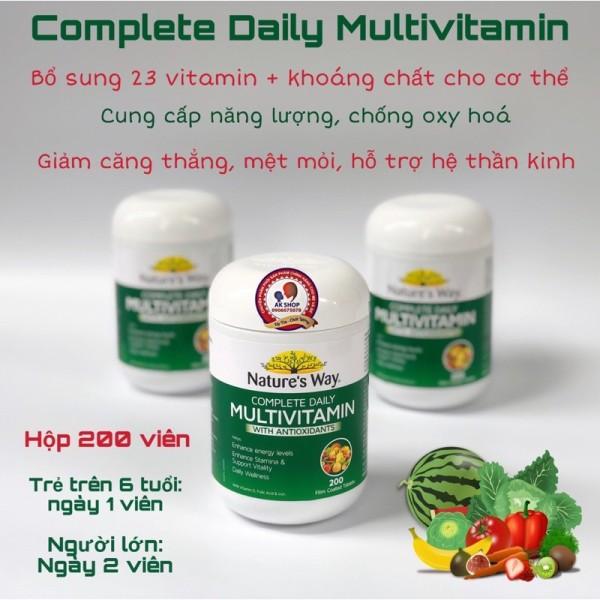 Viên Uống Multi Vitamin Nature'S Way 200V Hàng Chuẩn Hãng
