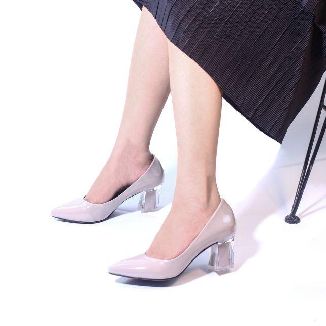 Giày Cao Gót 5cm Mũi Nhọn Gót Mica Pixie P006 giá rẻ