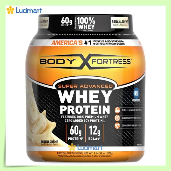 Bột đạm Body Fortress Super Advanced Whey Protein, 907g, nhiều hương vị [Hàng Mỹ] cao cấp