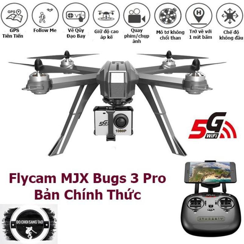 Flycam MJX Bugs 3 Pro Thế Hệ Mới,Trang Bị Camera 1080P C6000 Hiện Đại, Động Cơ Không Chổi Than Tích Hợp GPS, Giữ Độ Cao, Bay Theo Người, Tự Động Trở Về