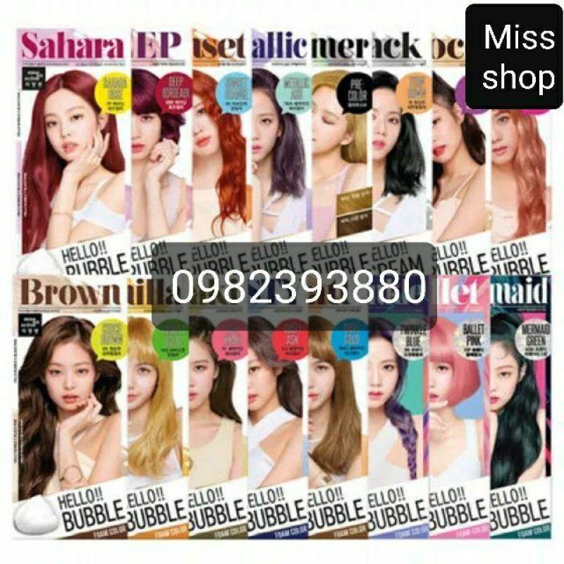 Thuốc nhuộm tóc bọt biển Hello Bubble Mise en scene Hàn Quốc mẫu mới cao cấp