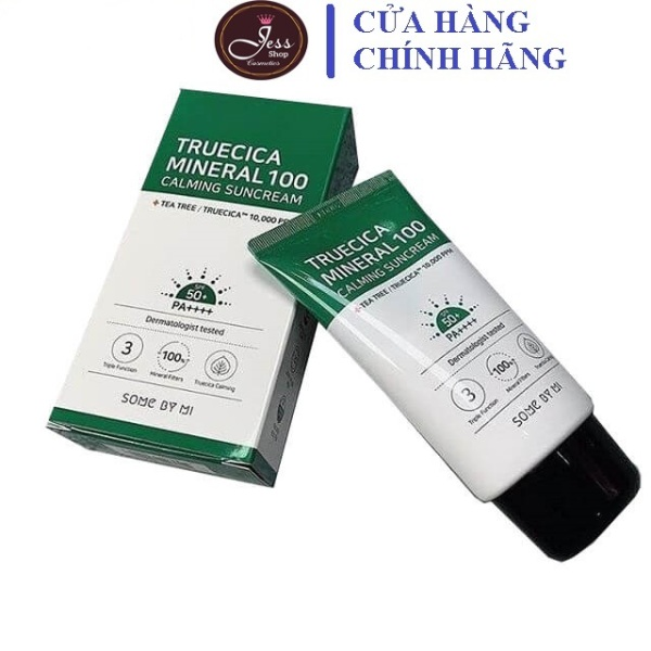 Kem Chống Nắng Some By Mi Truecica Mineral 100 Calming Suncream SPF50+/PA++++ 50ml