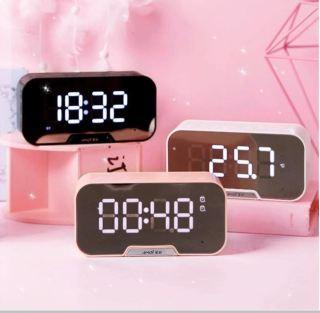 [Xả Kho 3 Ngày] Loa Bluetooth Amoi G5 Loa Bluetooth Không Dây 3 Trong 1 Đồng Hồ Báo Thức Nghe Đài Fm, Đo Nhiệt Độ Phòng Mặt Kính Tráng Gương Pin Trâu Siêu Bass thumbnail