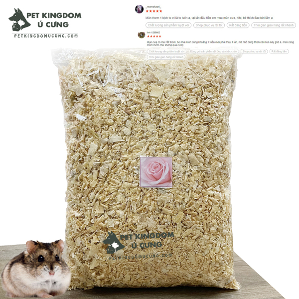 Mùn thơm lót chuồng cho hamster túi 500gr