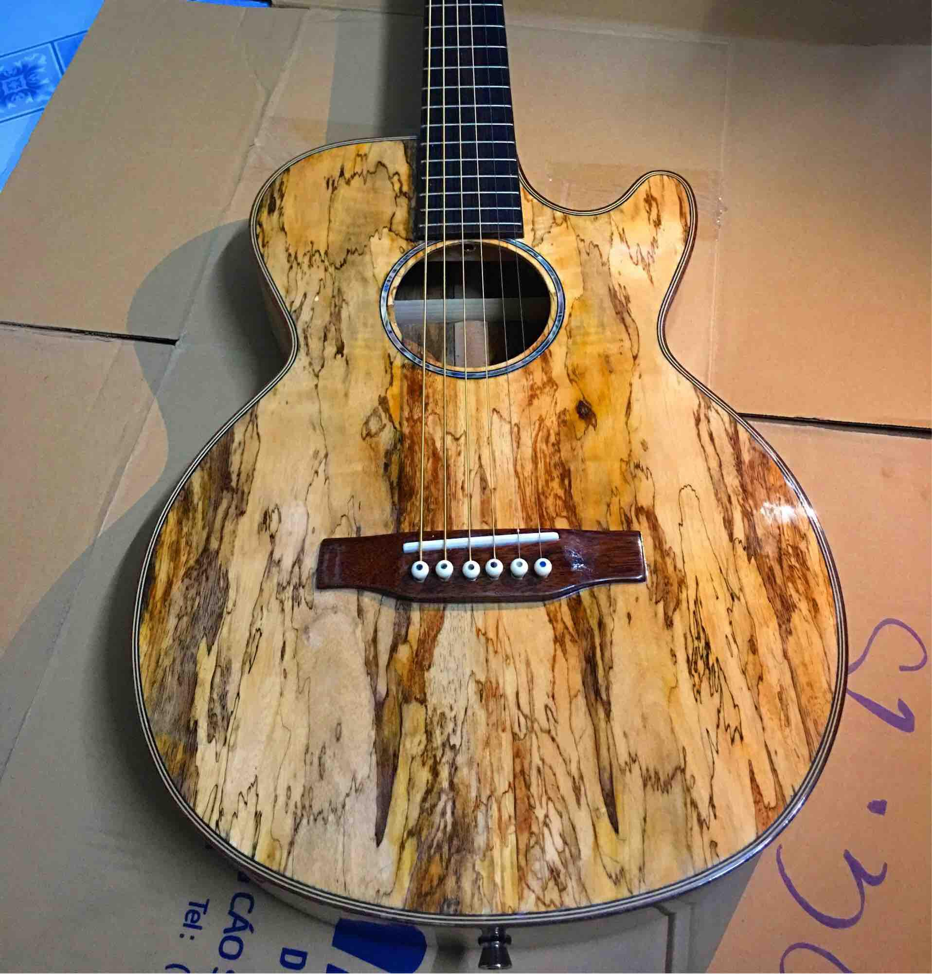 Đàn acoustic gỗ Tràm nguyên tấm