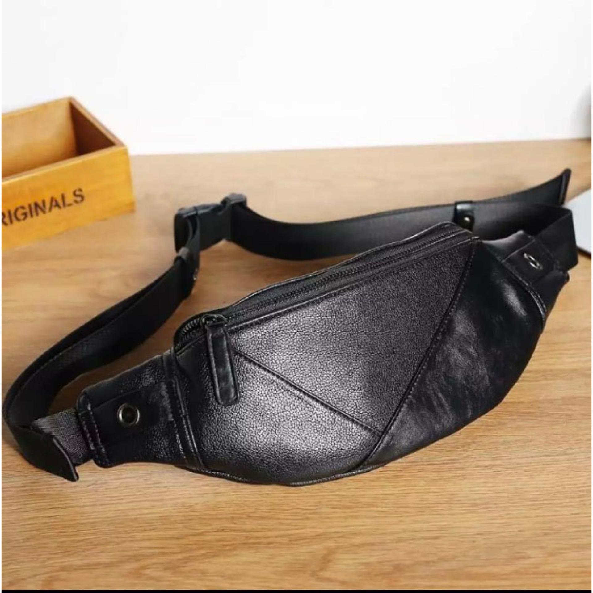 Túi đeo Chéo Bao Tử Thời Trang, Chống Nước (Đen) TN1 Có Giá Rất Tốt