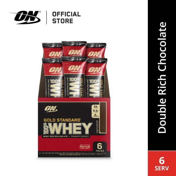 Optimum Nutrition 100% Whey Gold Standard (6 PACKETS) - Expired 01.02.2020