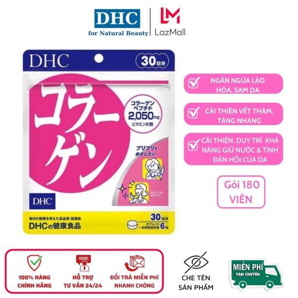 Viên uống DHC Collagen new Nhật Bản hỗ trợ làm trắng & bảo vệ da, gói 180 viên cao cấp
