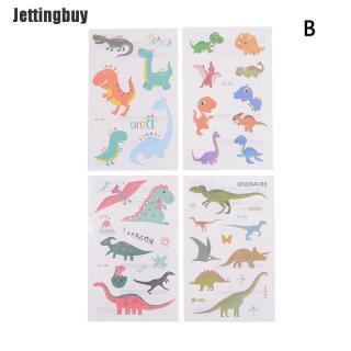 Jettingbuy 4 Miếng Dán Hình Xăm Chống Nước Cho Trẻ Em Dự Tiệc Khủng Long Động Vật Khủng Long Tiệc Sinh Nhật thumbnail