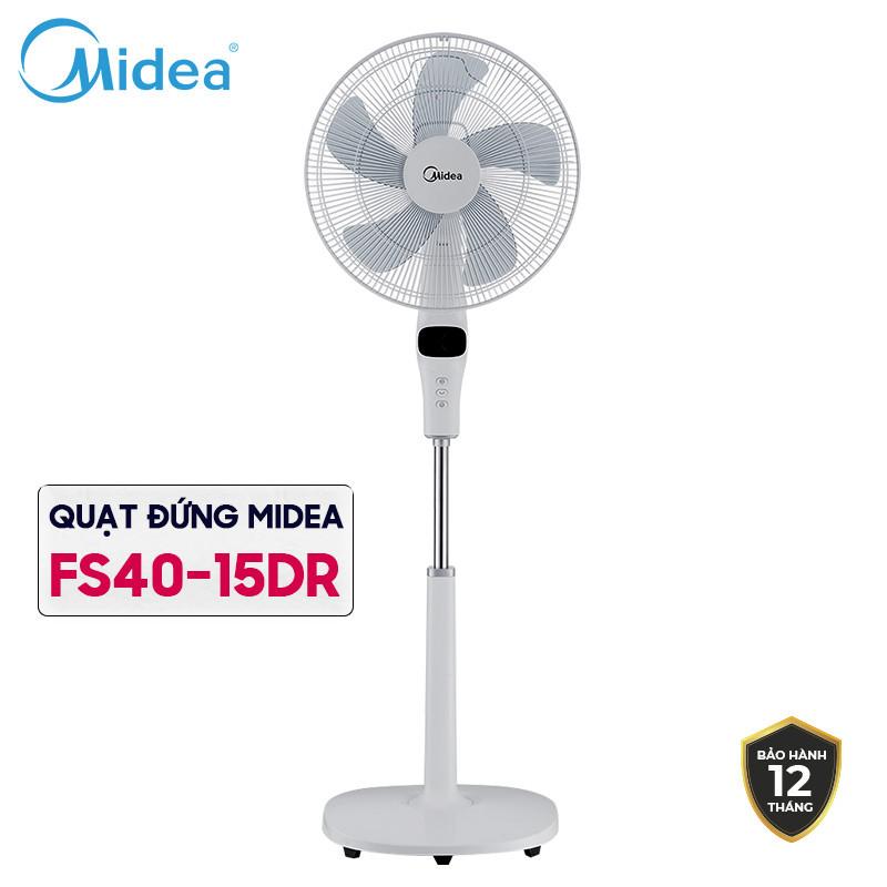 QUẠT CÂY Midea FS40-15DR, Bảng điều khiển hiện đại từ xa Remote, Có 3 chế độ gió Công suất 55W
