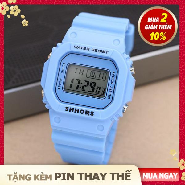 [Tặng kèm pin thay thế] Đồng Hồ Điện Tử Thể Thao Nữ SHHORS - 5 Màu Thời Trang bán chạy
