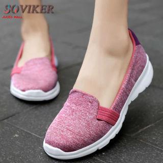 SOVIKER Giày Bệt Nữ Giày Lười Siêu Nhẹ Ngoại Cỡ Cho Nữ Giày Nữ Thường Ngày Giày Lười thumbnail