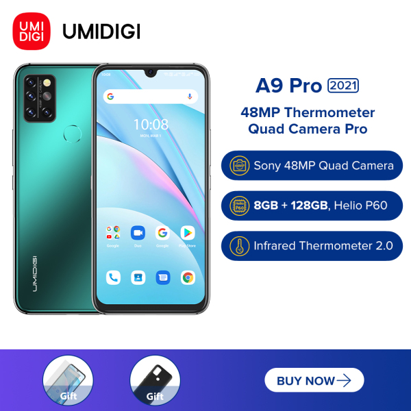 UMIDIGI A9 Pro (4GB/64GB) Phone - 6.3 FHD+ Standard Screen - 100% Brand New -Android 10-12 Months Warranty-Free Shipping