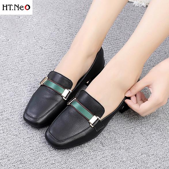 💖 FREESHIP 💖 Giày Nữ 3P Siêu Siêu Mềm Da Nhập Khẩu Sịn (Nu45-De) giá rẻ