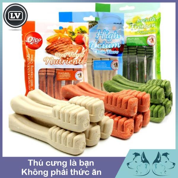 Xương Bàn Chải Gặm Sạch Răng Thơm Miệng Orgo - Bánh Thưởng Cho Chó - Gói 90gr 5 Chiếc