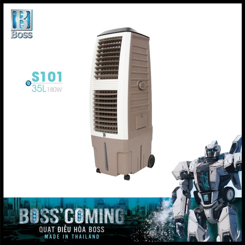 Quạt điều hòa không khí Boss S101 - 35 lít - 180W | Bảo hành 12 tháng chính hãng | Made in Thailand